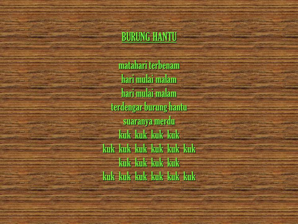 Bukan polisi dan bukan tentara Coklat tua coklat muda seragamnya Dasa darma tri satya pedomannya Tongkat dan tambang itu jadi alatnya Orang bilang lambangnya tunas kelapa Tumbuh di pantai dan pegunungan Orang bilang itu anggota pramuka Singkatan dari praja muda karana KOLAM SUSU..
