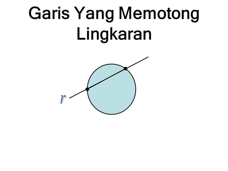 Garis Yang Memotong Lingkaran