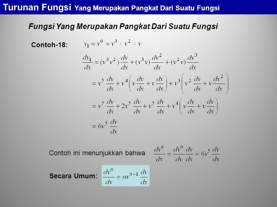 Fungsi Yang Merupakan Pangkat Dari Suatu Fungsi Turunan Fungsi Yang Merupakan Pangkat Dari Suatu Fungsi Contoh-18: Contoh ini menunjukkan bahwa Secara