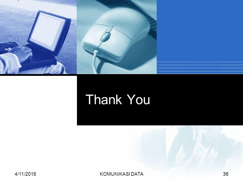 4/11/2015KOMUNIKASI DATA36 Thank You