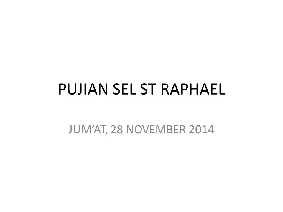 PUJIAN SEL ST RAPHAEL JUM'AT, 28 NOVEMBER 2014