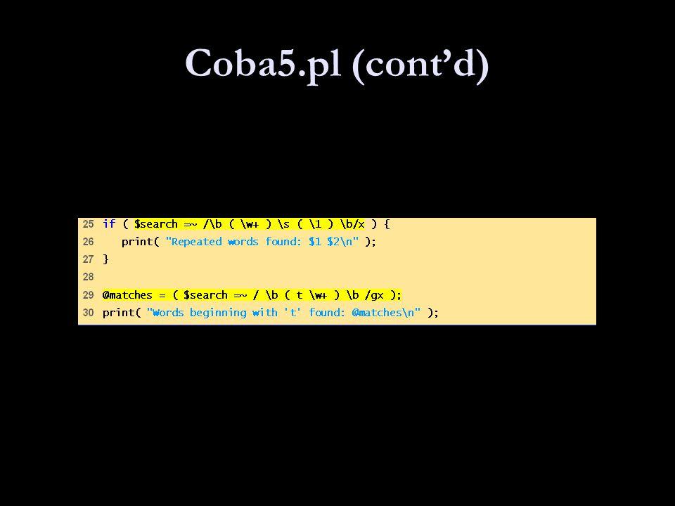 Coba5.pl (cont'd)