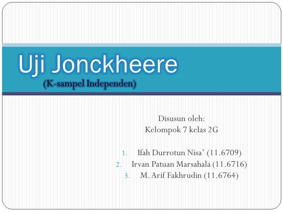 Disusun oleh: Kelompok 7 kelas 2G 1.Ifah Durrotun Nisa' (11.6709) 2.
