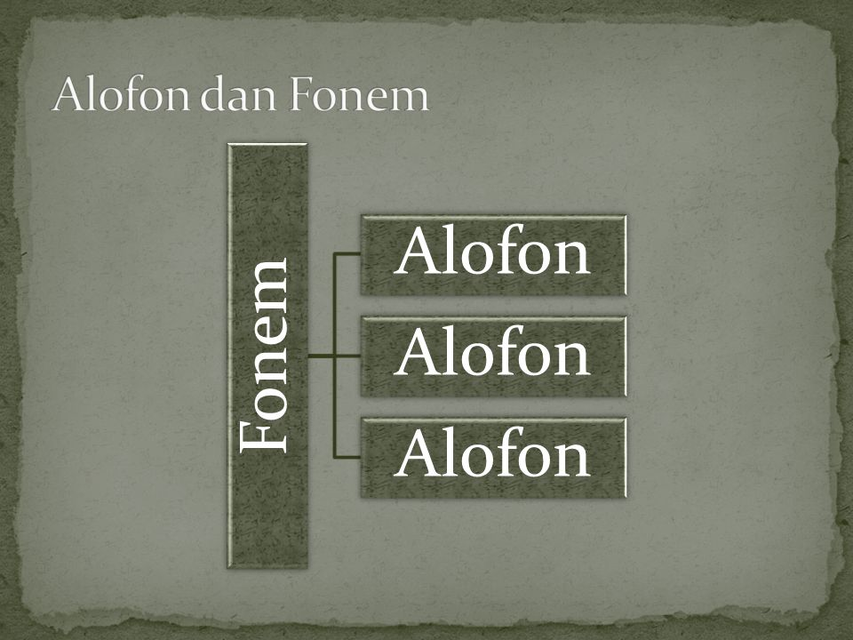 Fonem Alofon