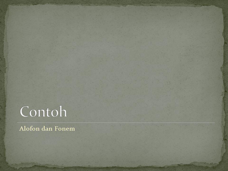 Alofon dan Fonem