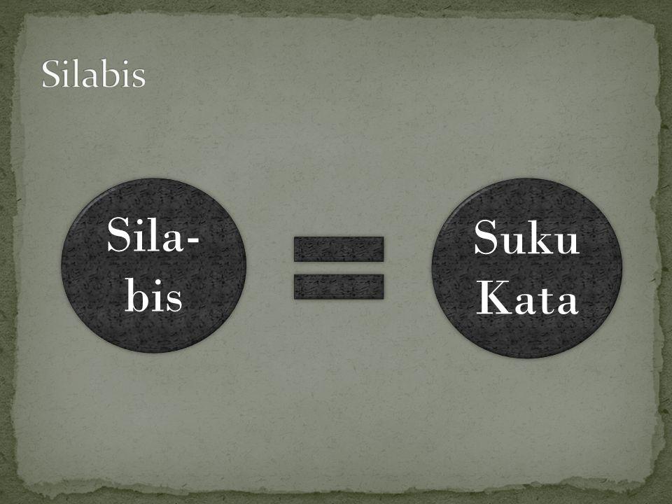 Sila- bis Sila- bis Suku Kata
