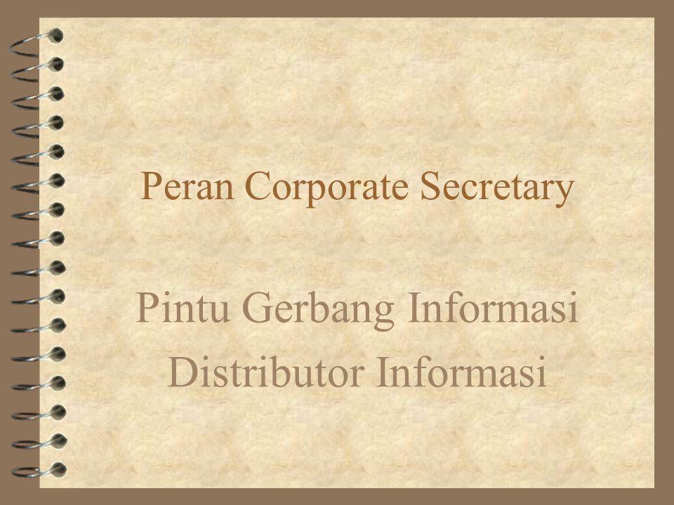 Outline 4 Objective –Sisi praktis teknologi Internet untuk corporate secretary 4 Outline –Sedikit Filosofi Sekretaris :-(.... –Teknologi Komunikasi &