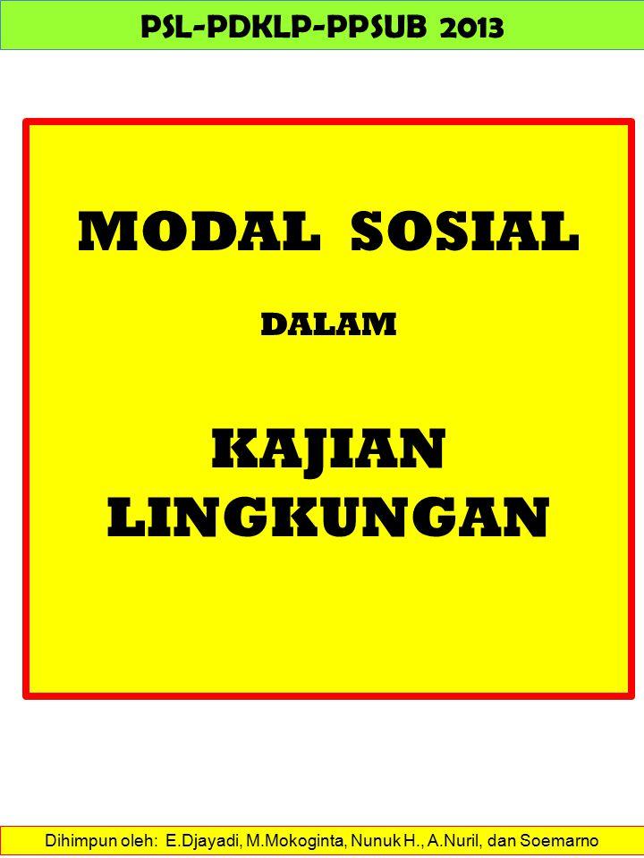 MODAL SOSIAL Menumbuhkan kerjasama dan kepercayaan antara BKM dengan masyarakat Sebagai pemimpin kolektif dari masyarakat warga, BKM harus mendapat kepercayaan warganya.