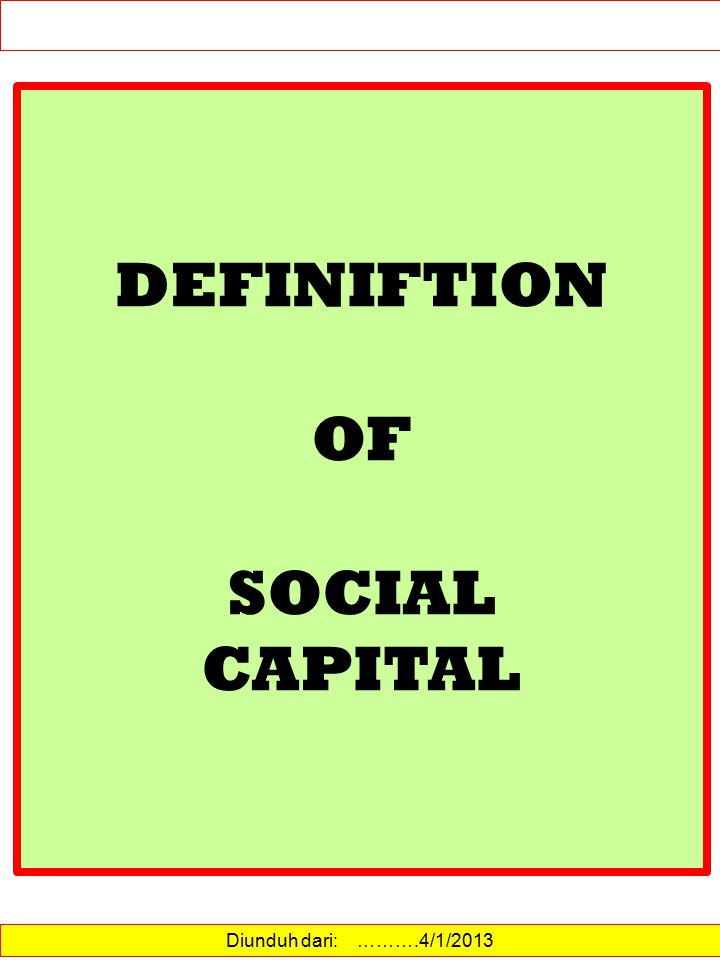 Enhanced social capital can improve environmental outcomes through decreased costs of collective action, increase in knowledge and information flows, increased cooperation, less resource degradation and depletion, more investment in common lands and water systems, improved monitoring and enforcement (Anderson et al.