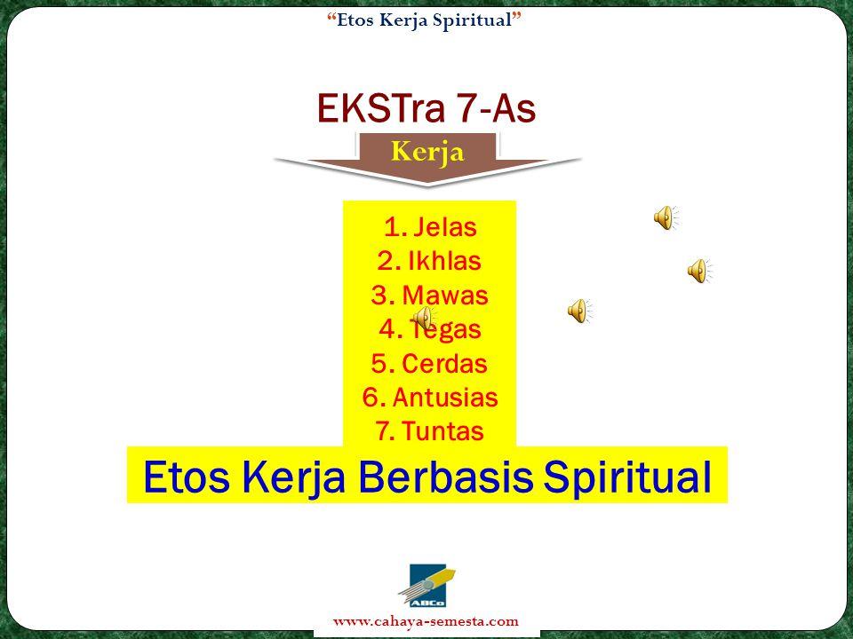 Etos Kerja Spiritual www.cahaya-semesta.com EKSTra 7-As Kerja 1.