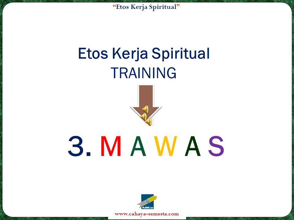 Etos Kerja Spiritual www.cahaya-semesta.com Etos Kerja Spiritual TRAINING 3. M A W A S