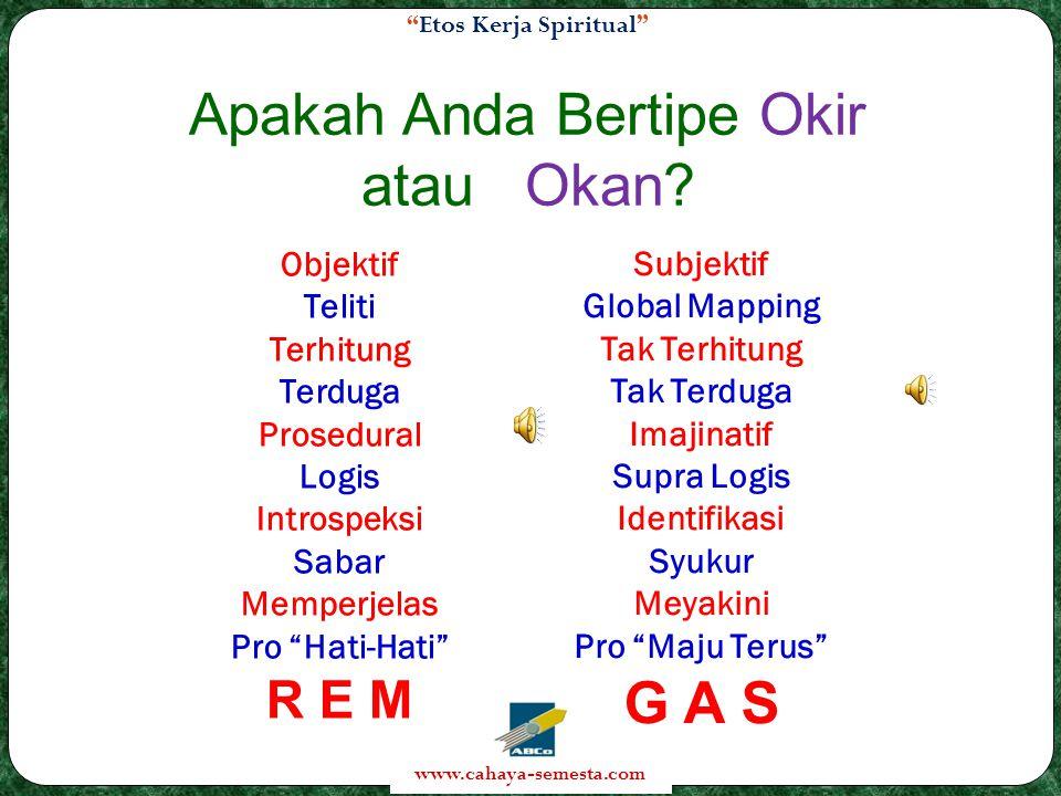 Etos Kerja Spiritual www.cahaya-semesta.com Apakah Anda Bertipe Okir atau Okan.