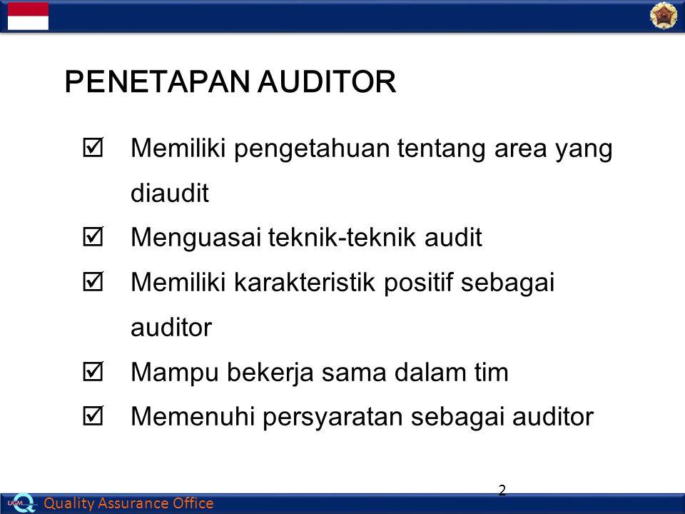 Quality Assurance Office 13  Santai  Manusiawi  Menaruh hormat  Menunjukkan ketertarikan pada pekerjaan auditee  Tetap tenang  Bersikap profesional PSIKOLOGI AUDIT