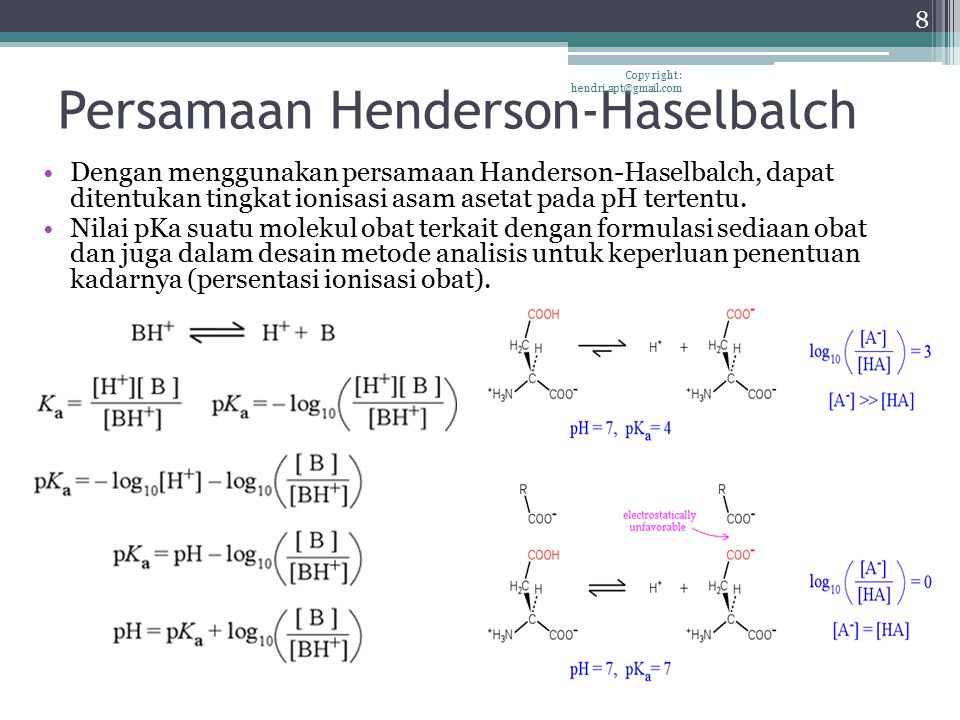 Larutan Bufer Copy right : hendri.apt@gmail.com 9 If a strong base is added to a bufferIf a strong acid is added to a buffer buffer solution resists marked changes in pH that would otherwise result from addition of an acid or base.