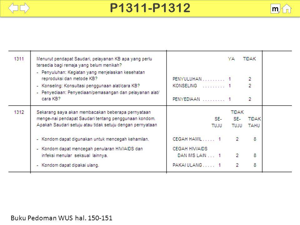 100% SDKI 2012 P1311-P1312 m Buku Pedoman WUS hal. 150-151