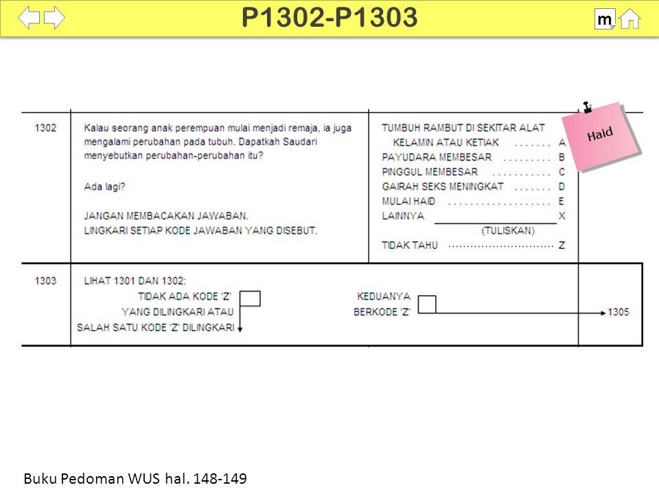 100% SDKI 2012 P1302-P1303 m Buku Pedoman WUS hal. 148-149