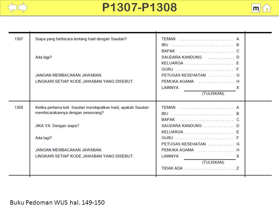 100% P1307-P1308 m Buku Pedoman WUS hal. 149-150