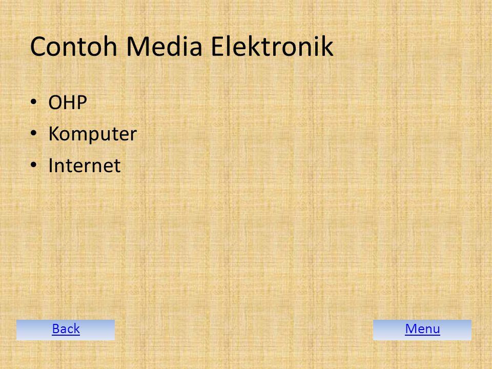 Contoh Media Elektronik OHP Komputer Internet MenuBack