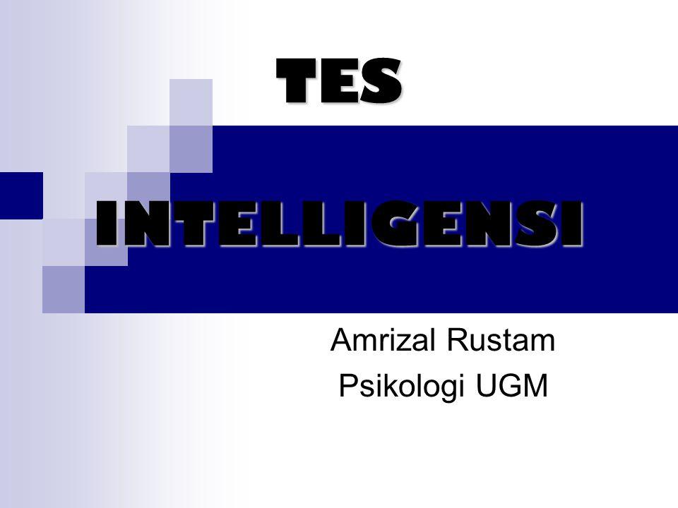 TES INTELLIGENSI Amrizal Rustam Psikologi UGM