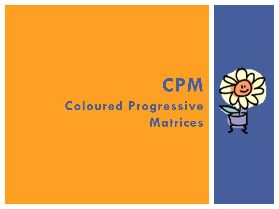 CPM Coloured Progressive Matrices