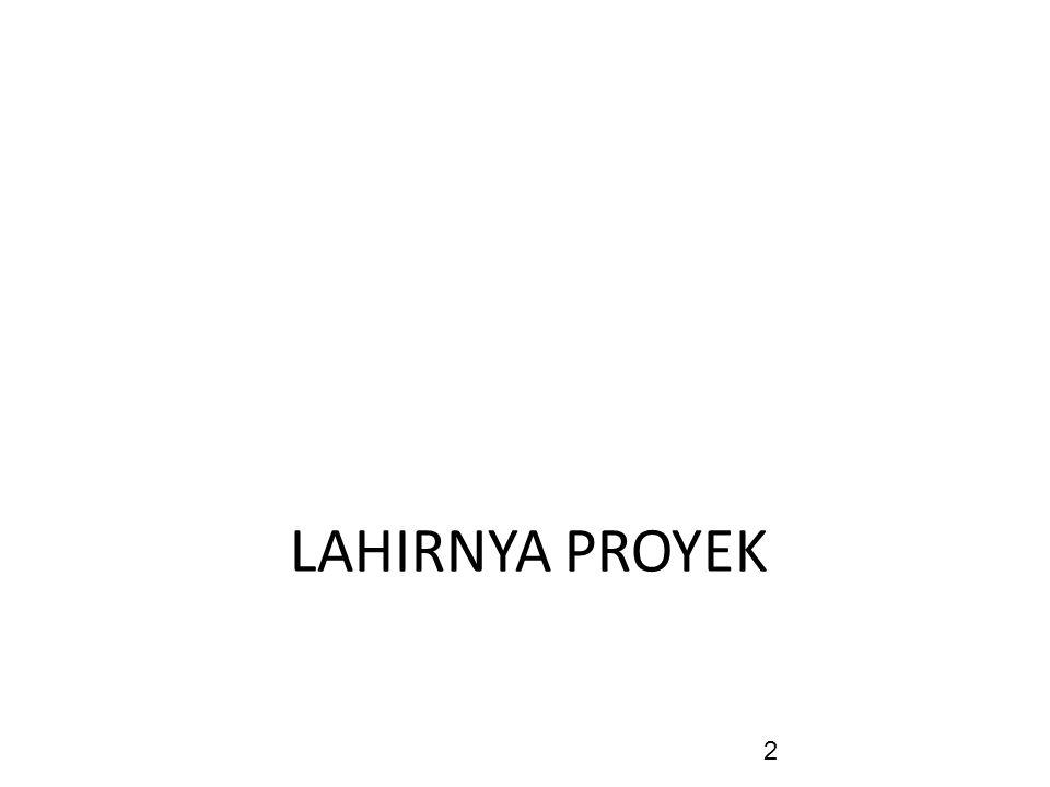 LAHIRNYA PROYEK 2