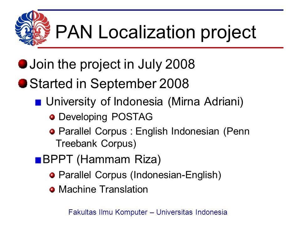 Fakultas Ilmu Komputer – Universitas Indonesia Thank You