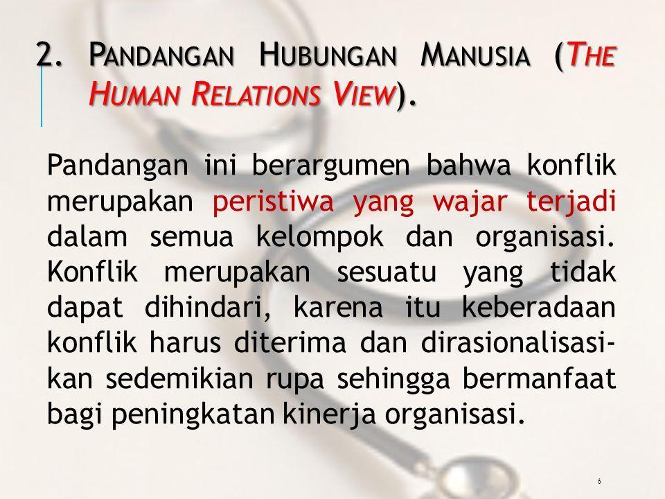 6 2.P ANDANGAN H UBUNGAN M ANUSIA (T HE H UMAN R ELATIONS V IEW ).