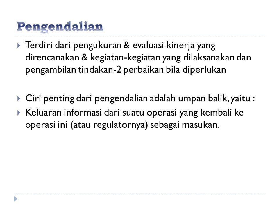  Terdiri dari pengukuran & evaluasi kinerja yang direncanakan & kegiatan-kegiatan yang dilaksanakan dan pengambilan tindakan-2 perbaikan bila diperlu