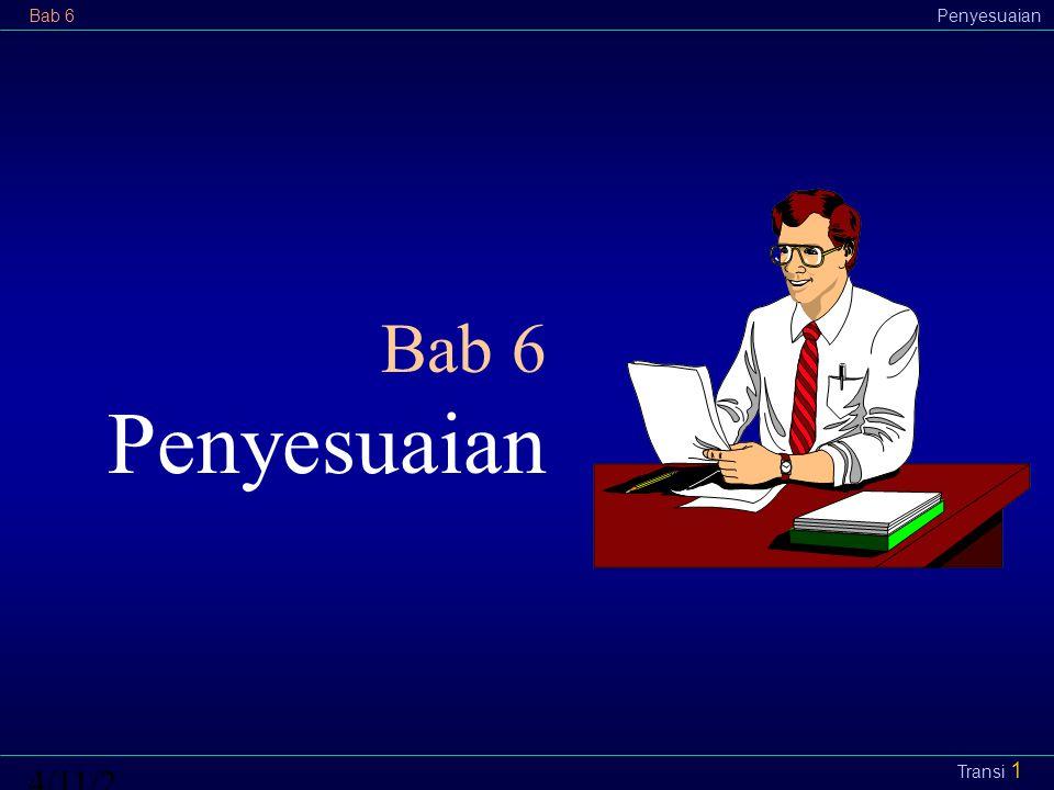 Bab 6Penyesuaian4/11/2015 Transi 1 Bab 6 Penyesuaian