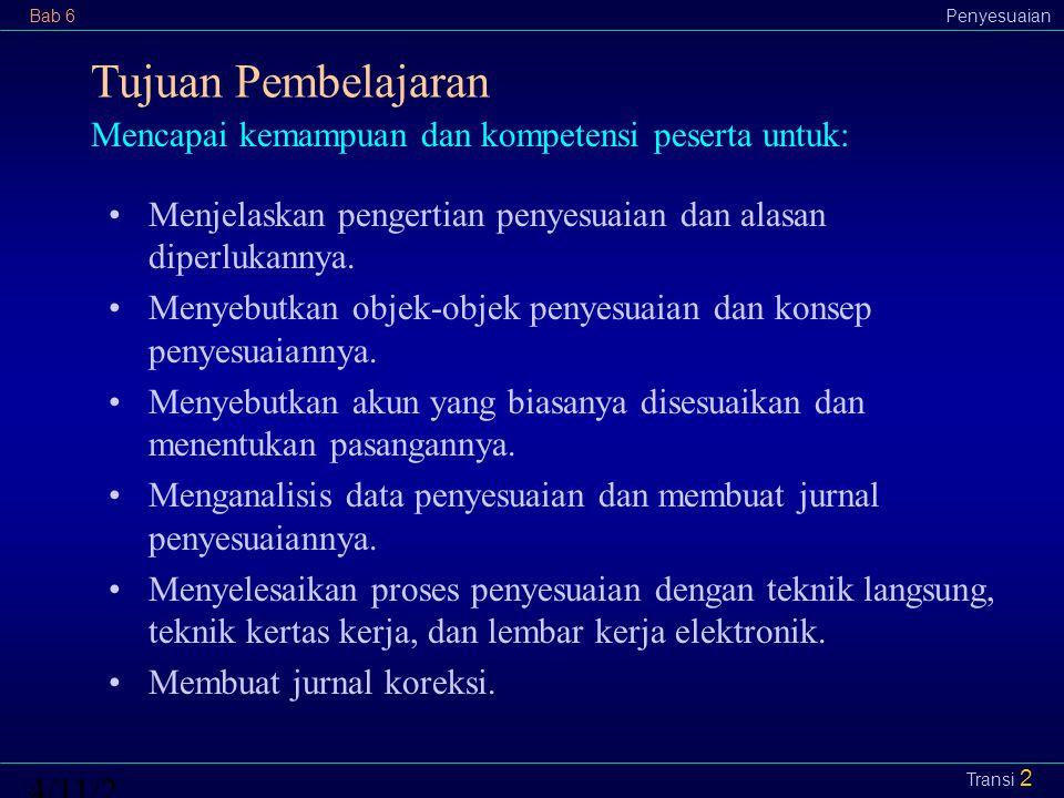 Bab 6Penyesuaian4/11/2015 Transi 13 f.