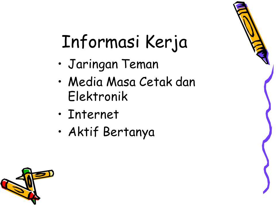 Informasi Kerja Jaringan Teman Media Masa Cetak dan Elektronik Internet Aktif Bertanya