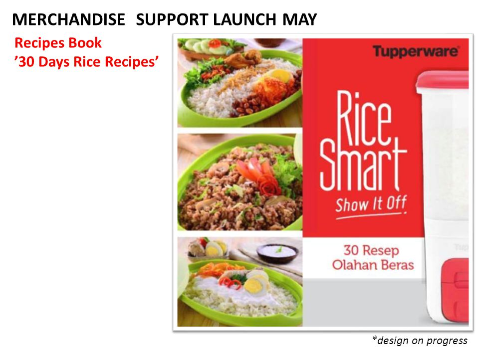 MERCHANDISE SUPPORT LAUNCH MAY Recipes Book '30 Days Rice Recipes' *design on progress
