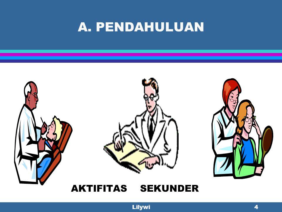 Lilywi3 A. PENDAHULUAN Rekam Medis merupakan rekaman permanen dan legal yang harus mengandung isian yang cukup tentang identitas pasien, kepastian dia