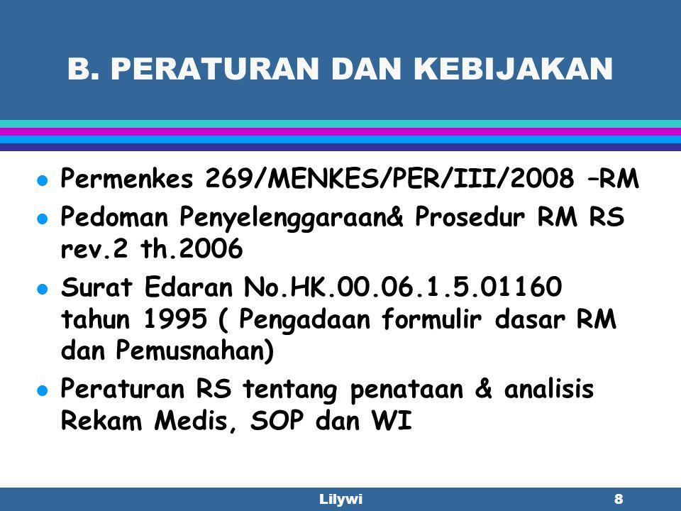Lilywi18 KOMPONEN 2.Adanya semua laporan/ Catatan yang penting ( Review of Necessary Report) 2.