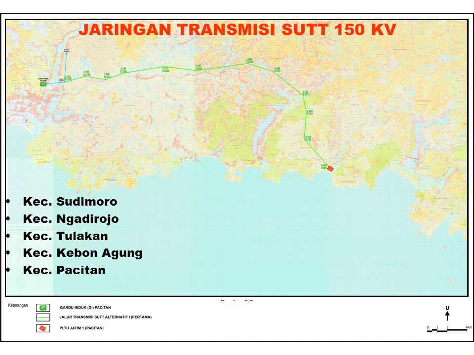 JARINGAN TRANSMISI SUTT 150 KV Kec.Sudimoro Kec. Ngadirojo Kec.
