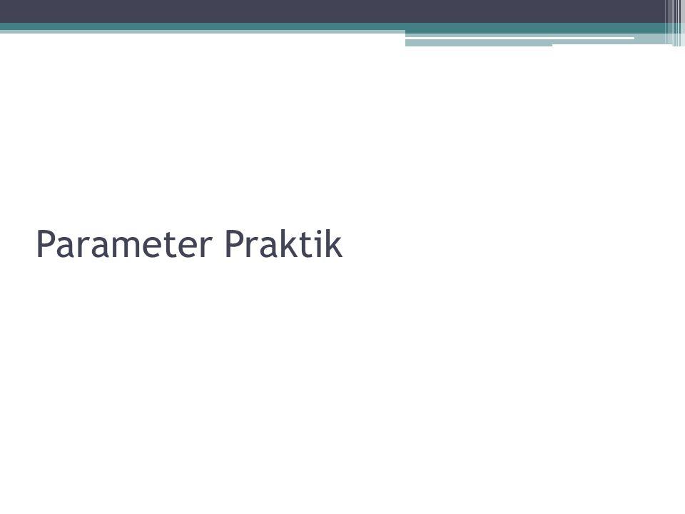 Parameter Praktik
