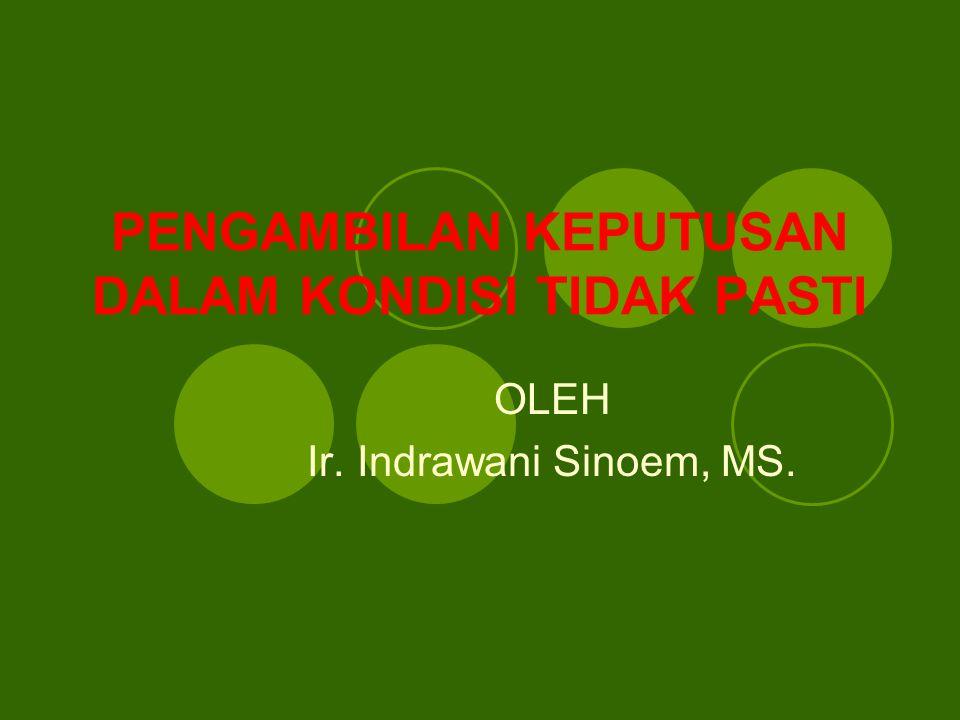 PENGAMBILAN KEPUTUSAN DALAM KONDISI TIDAK PASTI OLEH Ir. Indrawani Sinoem, MS.