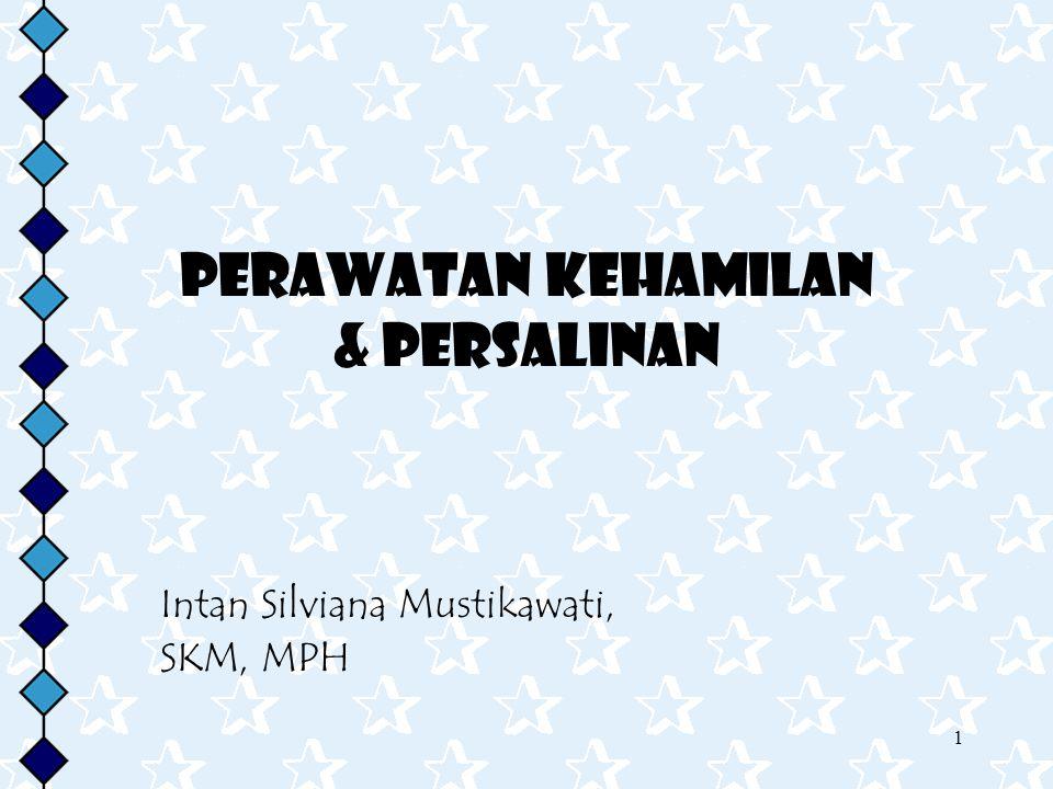 1 Perawatan kehamilan & PErsalinan Intan Silviana Mustikawati, SKM, MPH