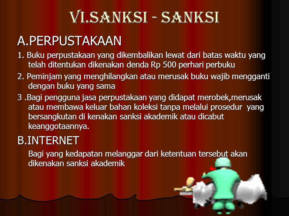 VI.SANKSI - SANKSI A.PERPUSTAKAAN 1.
