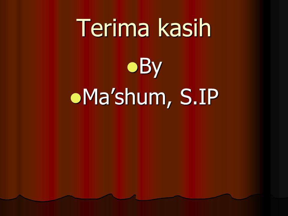 Terima kasih By By Ma'shum, S.IP Ma'shum, S.IP