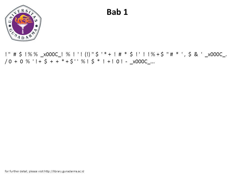 Bab 1 . # $ . % % _x000C_. % . . (!) $ * + .