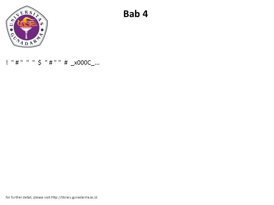 Bab 4 . # $ # # _x000C_...