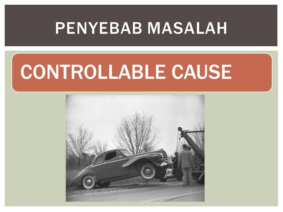 CONTROLLABLE CAUSE PENYEBAB MASALAH