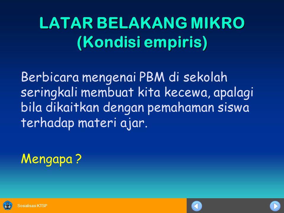 Sosialisasi KTSP DI (DIRECT INSTRUCTION) CL (COOPERATIVE LEARNING) PBI (PROBLEM BASE INSTRUCTION) GABUNGAN