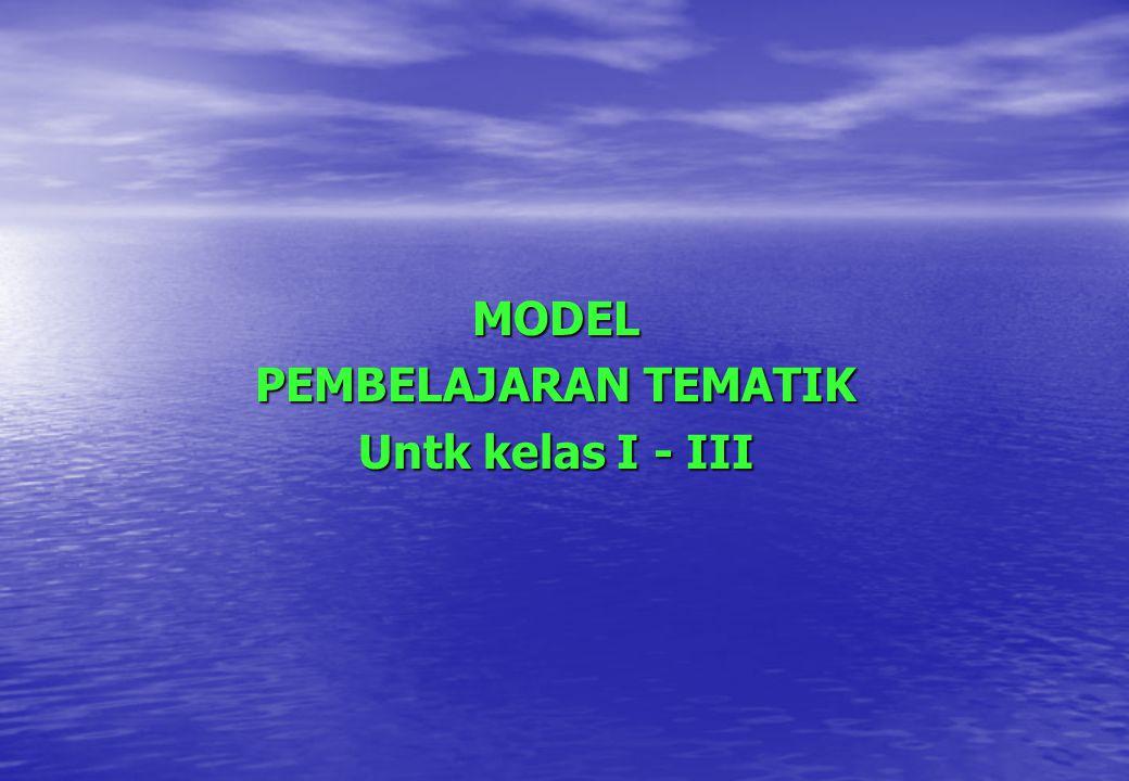 MODEL PEMBELAJARAN TEMATIK Untk kelas I - III