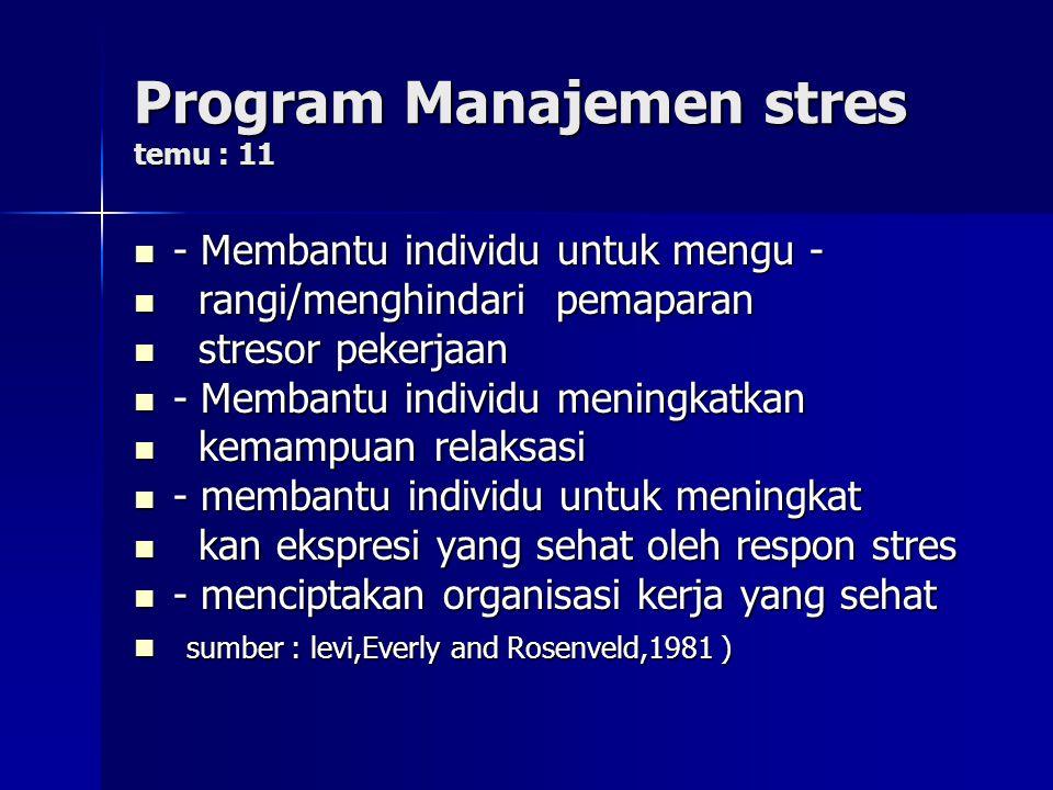 Kontra indikasi program temu : 10 - Perokok - Perokok - motivasi rendah - motivasi rendah - pemalas - pemalas - obesitas - obesitas - penyakit berisiko terhadap kegiatan - penyakit berisiko terhadap kegiatan olah raga olah raga