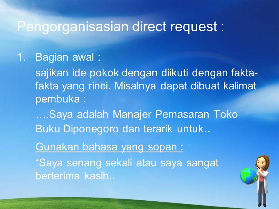 Pengorganisasian Direct Request 2.
