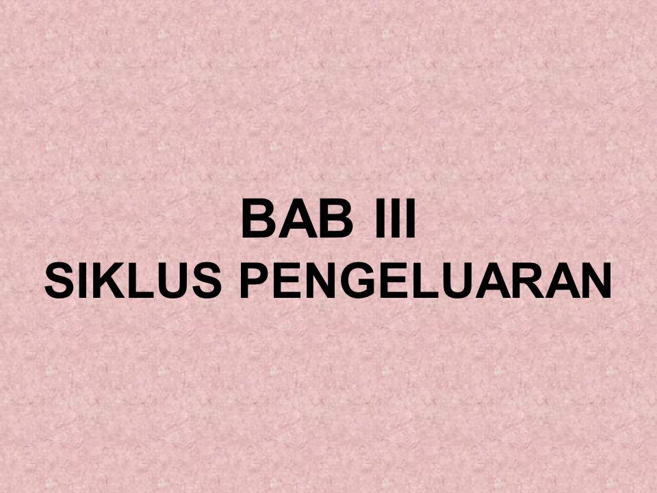 BAB III SIKLUS PENGELUARAN