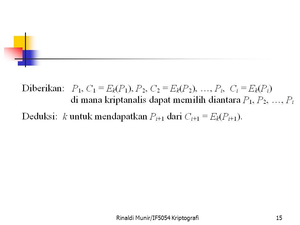 Rinaldi Munir/IF5054 Kriptografi15