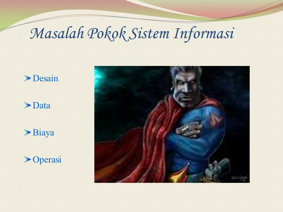 Masalah Pokok Sistem Informasi Desain Data Biaya Operasi